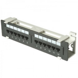 PATCH PANEL CAT6 12PORT WALL MOUNT