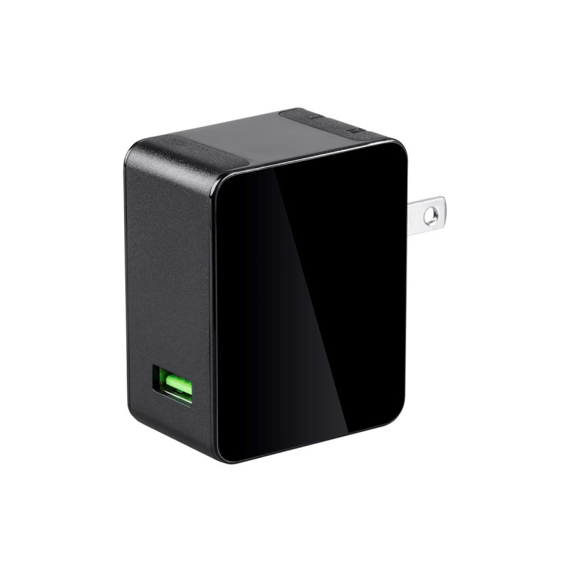 USB CHARGER BLACK QUALCOMM QUICK CHARGE 3.0