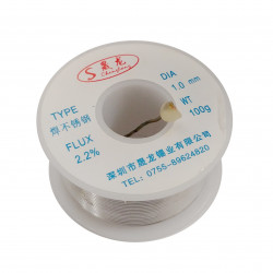 SOLDER, STAINLESS STEEL,2.2% ROSIN, 100g