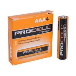 BATTERIES DURACELL PROCELL 1.5V AAAX4-PKG ALKALINE