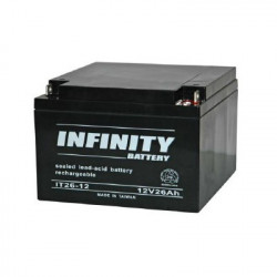 BATTERY, RECHARGEABLE SLA, LEAD ACID, 12V 26AH INFINITY