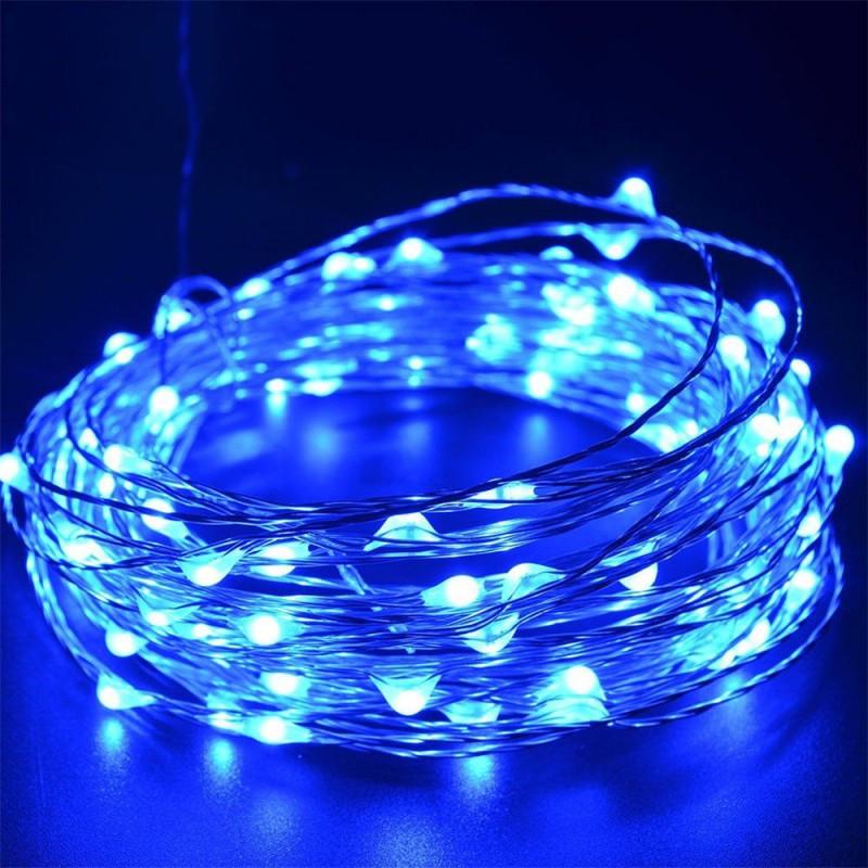 LED STRING LIGHT, BLUE, 5V 10M-100LED IP65