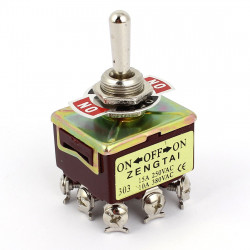 TOGGLE SWITCH 3PDT ON-OFF-ON 250V 15A