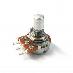POTENTIOMETER, ALPHA C10K REV AUD VERT MNT SOLID SHAFT 16MM
