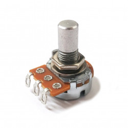 POTENTIOMETER, ALPHA A500K PANEL LUGS SHORT SOLID SHAFT 16MM