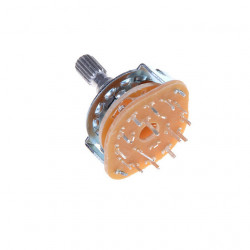 METAL ROTARY SWITCH 3P4T