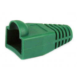 RJ-45 RUBBER BOOT GREEN 10 PCS