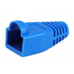 RJ-45 RUBBER BOOT BLUE 10 PCS