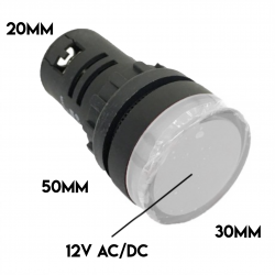 PILOT LAMP LED 12VAC/VDC...