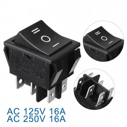 ROCKER SWITCH ON-OFF-ON 16A...