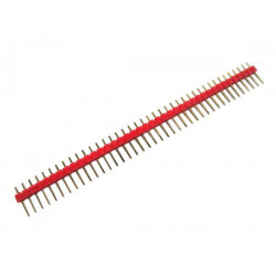 HEADER PINS 1X40, RED