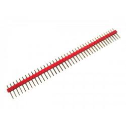 HEADER PINS 1X40, RED