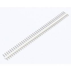 HEADER PINS 1X40, WHITE