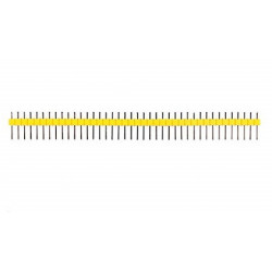HEADER PINS 1X40, YELLOW