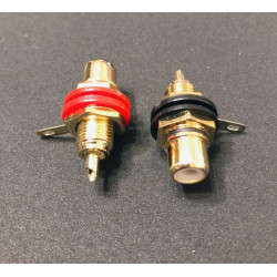 RCA JACK GOLD RED/BLK 2PC/SET