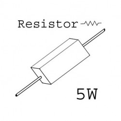 RESISTORS 5W 5.1K OHM 5%