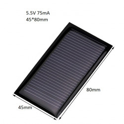 SOLAR PANEL 5.5V 75mA 45X80MM