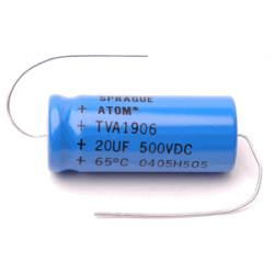 """ELECTROLYTIC CAP 500V 20UF """"SPRAGUE ATOM"""""""