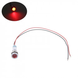 INDICATOR LIGHT, 12VDC RED...