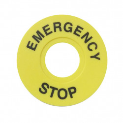 EMERGENCY SWITCH STOP COVER...