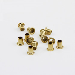 EYELET / RIVETS, 3X4MM, RAW...