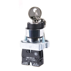 KEY SWITCH, 240V, 3A, SPST,...