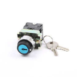 KEY SWITCH, 240V, 3A, DPST,...