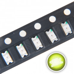 LED 1206 SMD, LIME GREEN