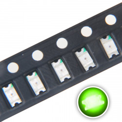 LED 1210 SMD, GREEN