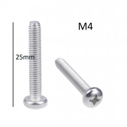 SCREW M4X25MM 10PCS/PKG