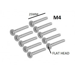 SCREW M4X25MM FLAT HEAD...