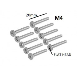 SCREW M4X20MM FLAT HEAD...