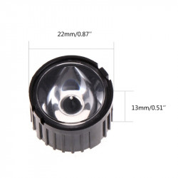 LED LENS - 45 DEGREE, w/HOLDER