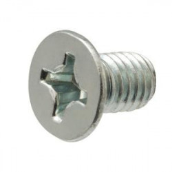 SCREW M4X6MM FLAT 10PCS/PKG