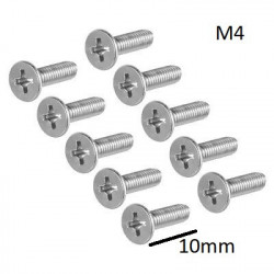 SCREW M4X10MM FLAT HEAD...
