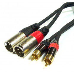 AUDIO CABLE, 2X XLR (M) TO...