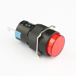 PILOT LAMP RED 12V ROUND...