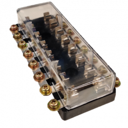 FUSE BLOCK 8-WAY FOR 6.3MMX30MM FUSE