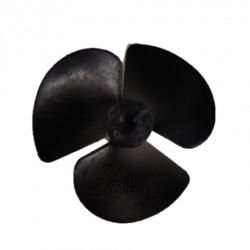 PLASTIC PROPELLER, 18.5MM THICK, 2MM HOLE SIZE