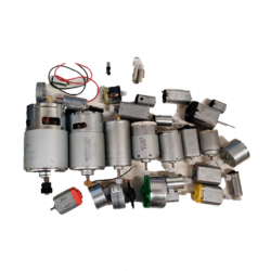 KIT, ASSORTED DC GEAR MOTORS, 32PCS