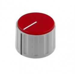 KNOBS, LINE POINTER 6MM RED...
