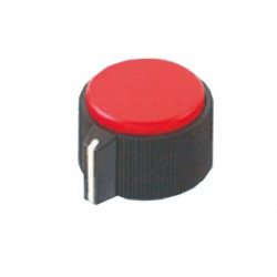 KNOBS RN-118E RED 6.4MM