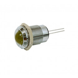 LED 8MM YELLOW W/ METAL HOLDER