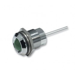 LED 8MM GREEN W/ METAL HOLDER