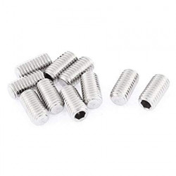 HEX SET SCREW M4X8MM 10PCS/PKG