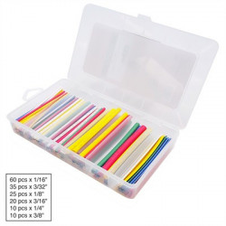 HEAT SHRINK KIT, 2:1 RATIO, MULTICOLOR, 160PCS
