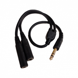 "AUDIO CABLE, 1/4"" ST (M) - 2 X 1/4"" ST (F) 0.5M"