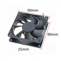 FAN DC 12V 90X90X25MM