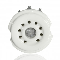 CERAMIC TUBE SOCKET 9-PIN...