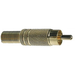 RCA PLUG 6MM METAL SLF-3806